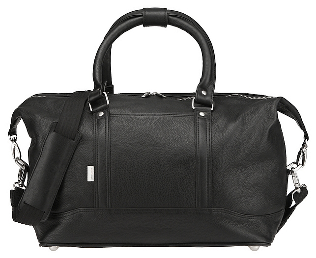 Kožená cestovní taška značky Jahn-Tasche 698 černá