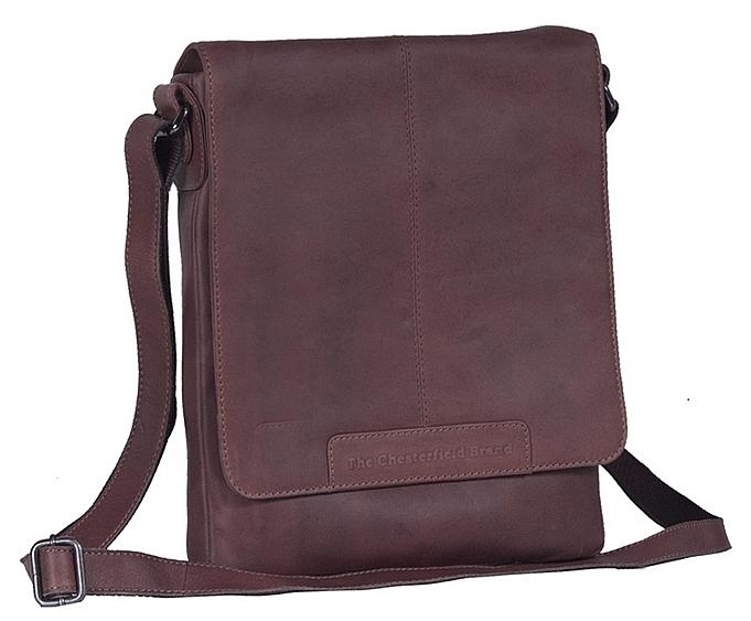 The Chesterfield Brand Klopnová kožená taška na doklady Bodil C48.062001 hnědá