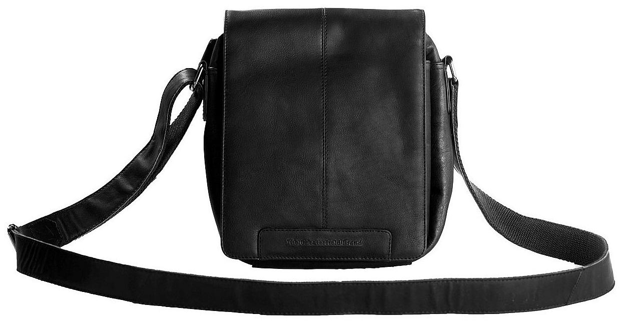 The Chesterfield Brand Klopnová kožená taška přes rameno C48.096500 Alin černá