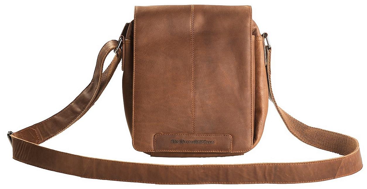 The Chesterfield Brand Klopnová kožená taška přes rameno C48.096531 Alin koňak