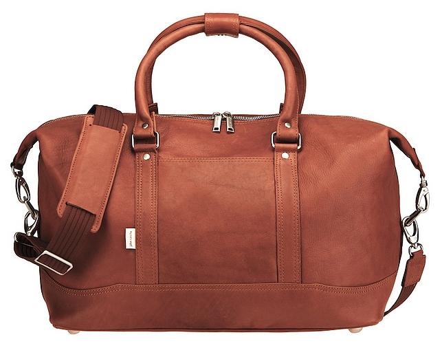 Kožená cestovní taška značky Jahn-Tasche 698 koňak