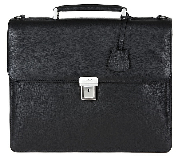 LEONHARD HEYDEN Kožená aktovka na notebook BERLIN 7341 černá