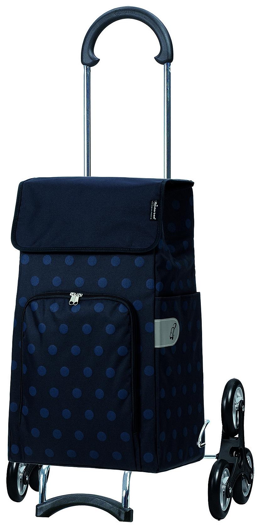 Andersen Nákupní taška na kolečkách do schodů SCALA SHOPPER TREPPENSTEIGER® LIZZY 119-140-90 tmavě modrá