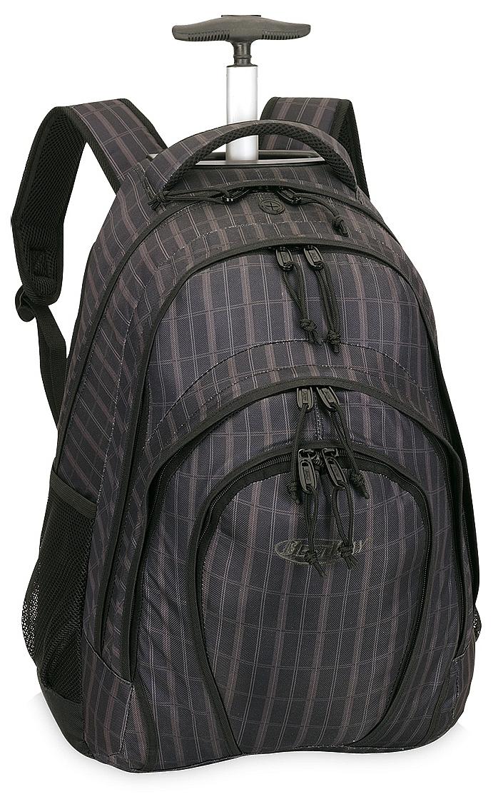 BestWay Školní batoh na kolečkách 40133-1201 hnědo-černý