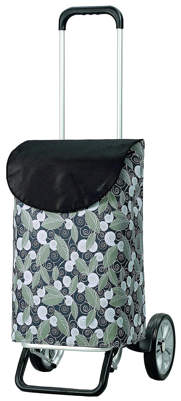Andersen Nákupní taška na kolečkách ALU STAR SHOPPER® SUSI 115-130-20 šedá