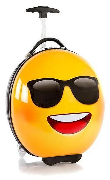 Heys Dětský skořepinový kufr na kolečkách e-Motion Kids Luggage Sunglasses 13093-3704-00 žlut