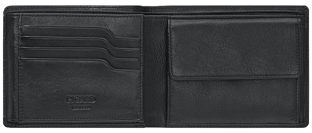 4f2102238134 PICARD Pánská kožená peněženka EUROJET 7419 černá