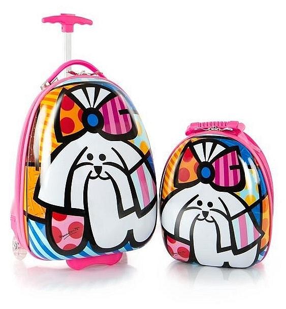 Heys Dětská sada batohu a kufru Britto Kitty 16150-6941 barevný