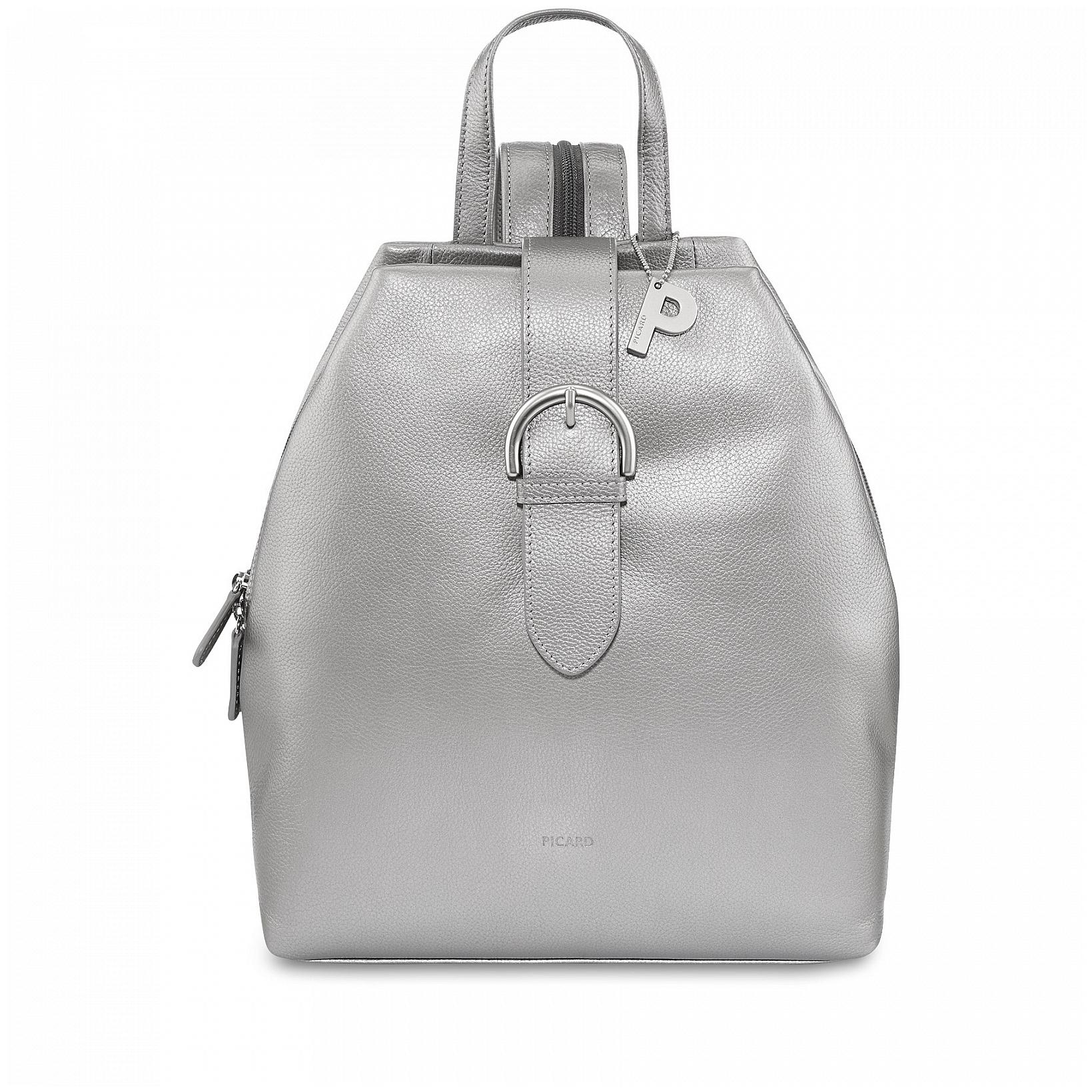 f71e82ffd2c PICARD Dámský kožený batoh do města LUIS 8386 stříbrný