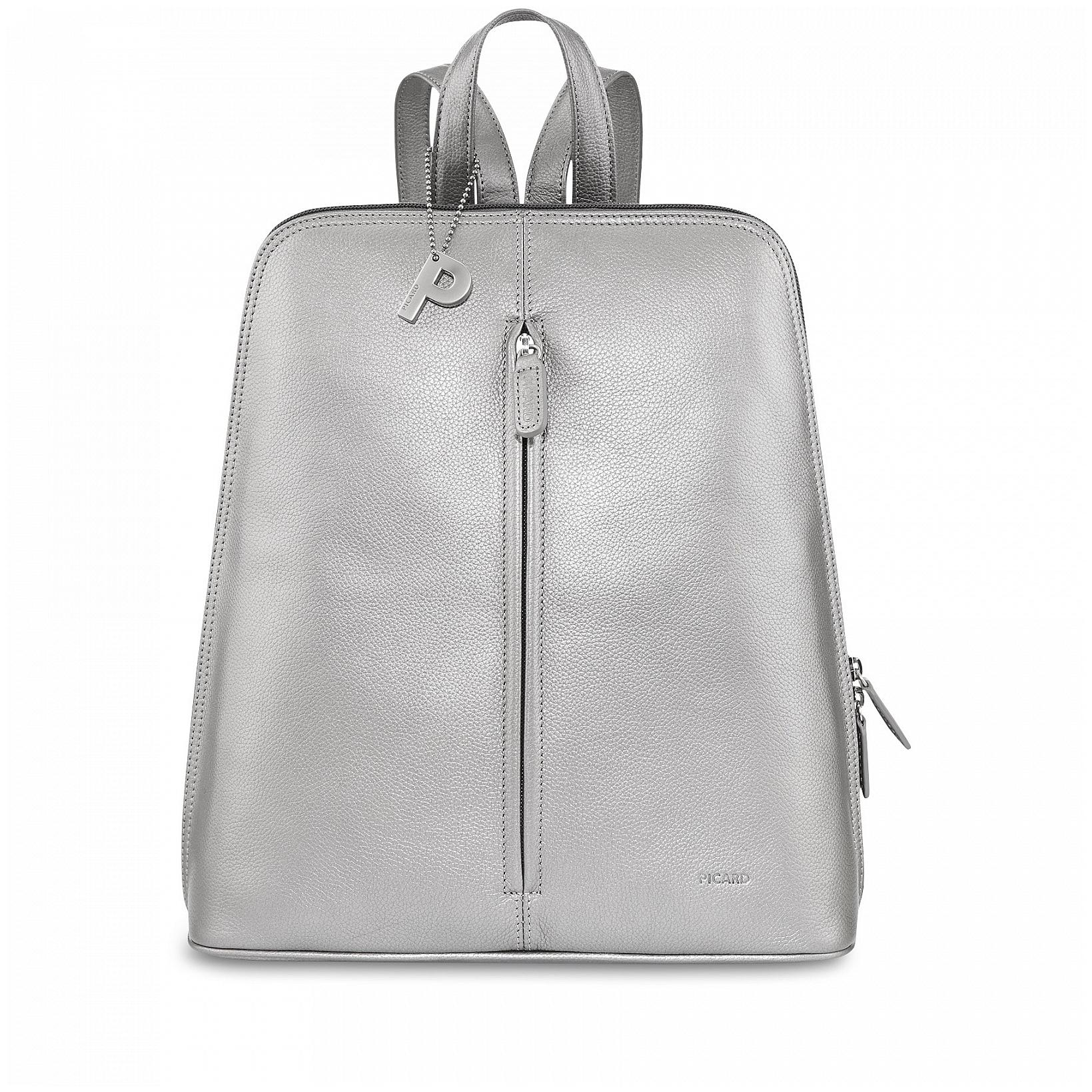 PICARD Elegantní dámský batoh LUIS 8656 stříbrný