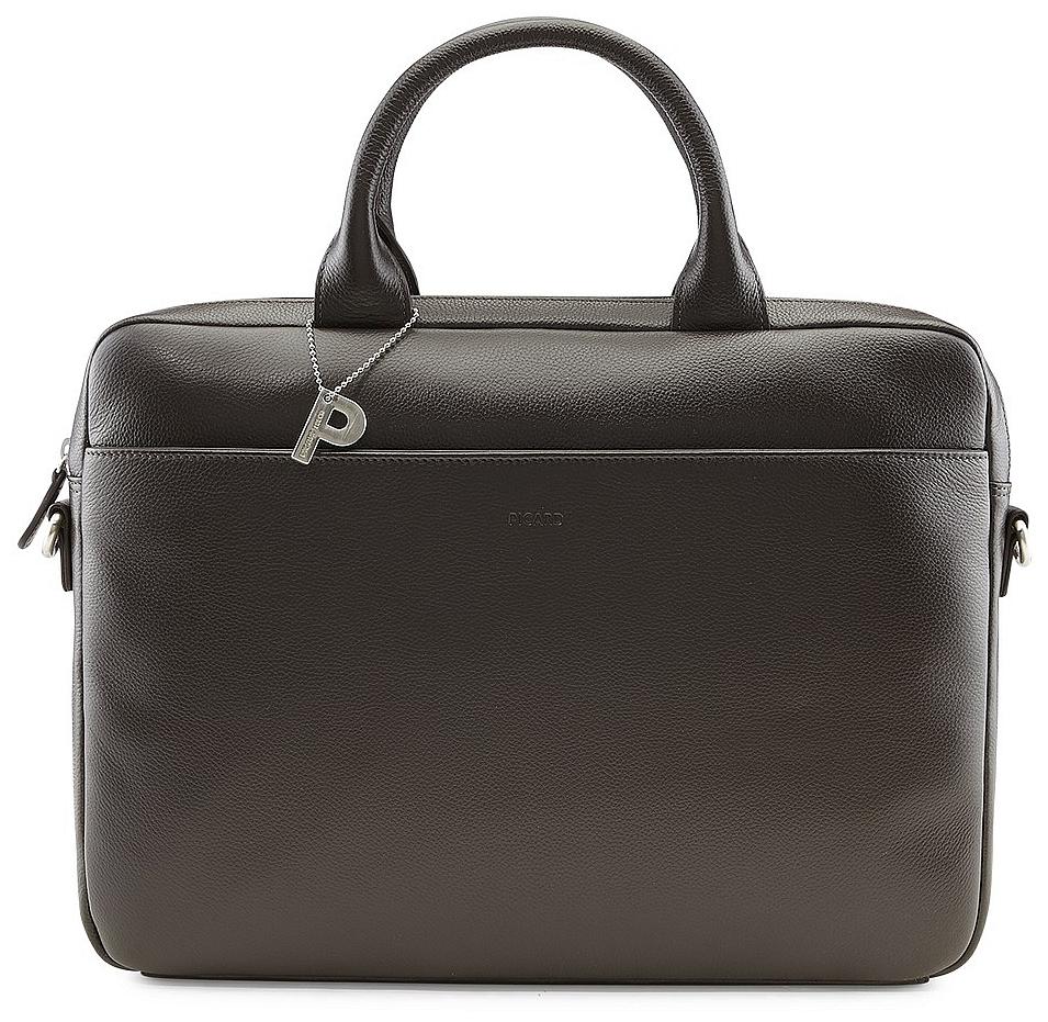 PICARD Kožená byznys taška na notebook MILANO 9320 hnědá