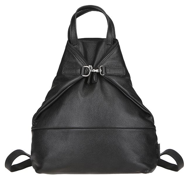 JOST Dámský kožený batoh VIKA 1910 černý