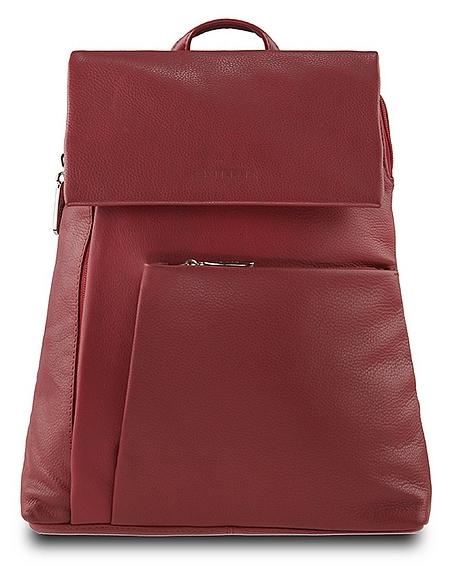 ESTELLE Dámský kožený batoh 0145 červený