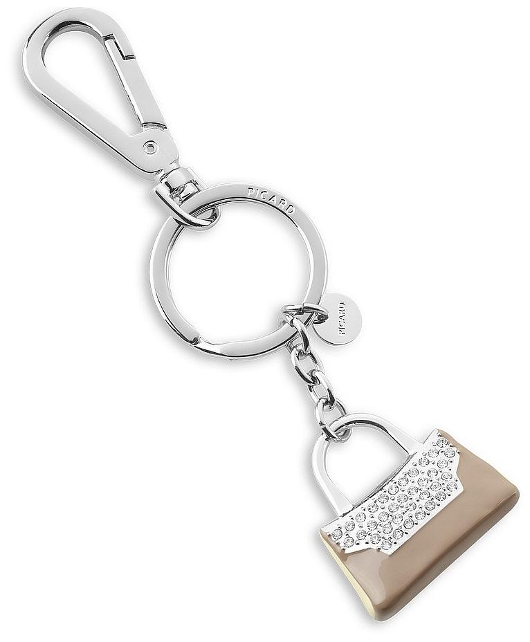 2cd9c5c9787 PICARD Přívěsek na klíče 6596 béžová kabelka stříbrný
