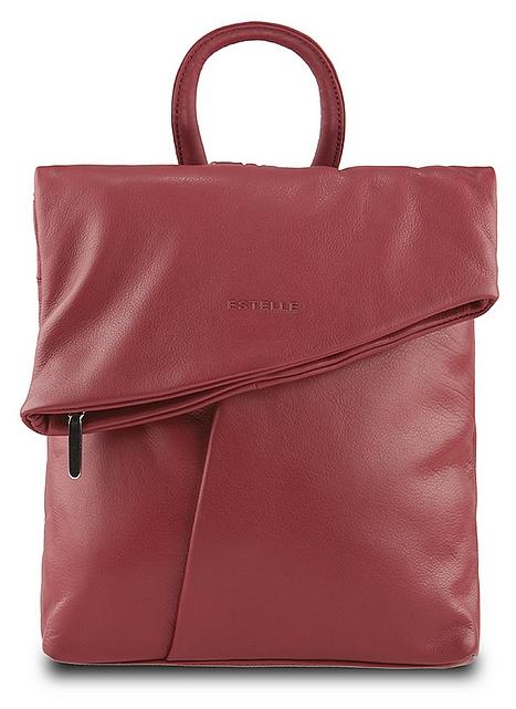 ESTELLE Dámský kožený batoh 0144 červený