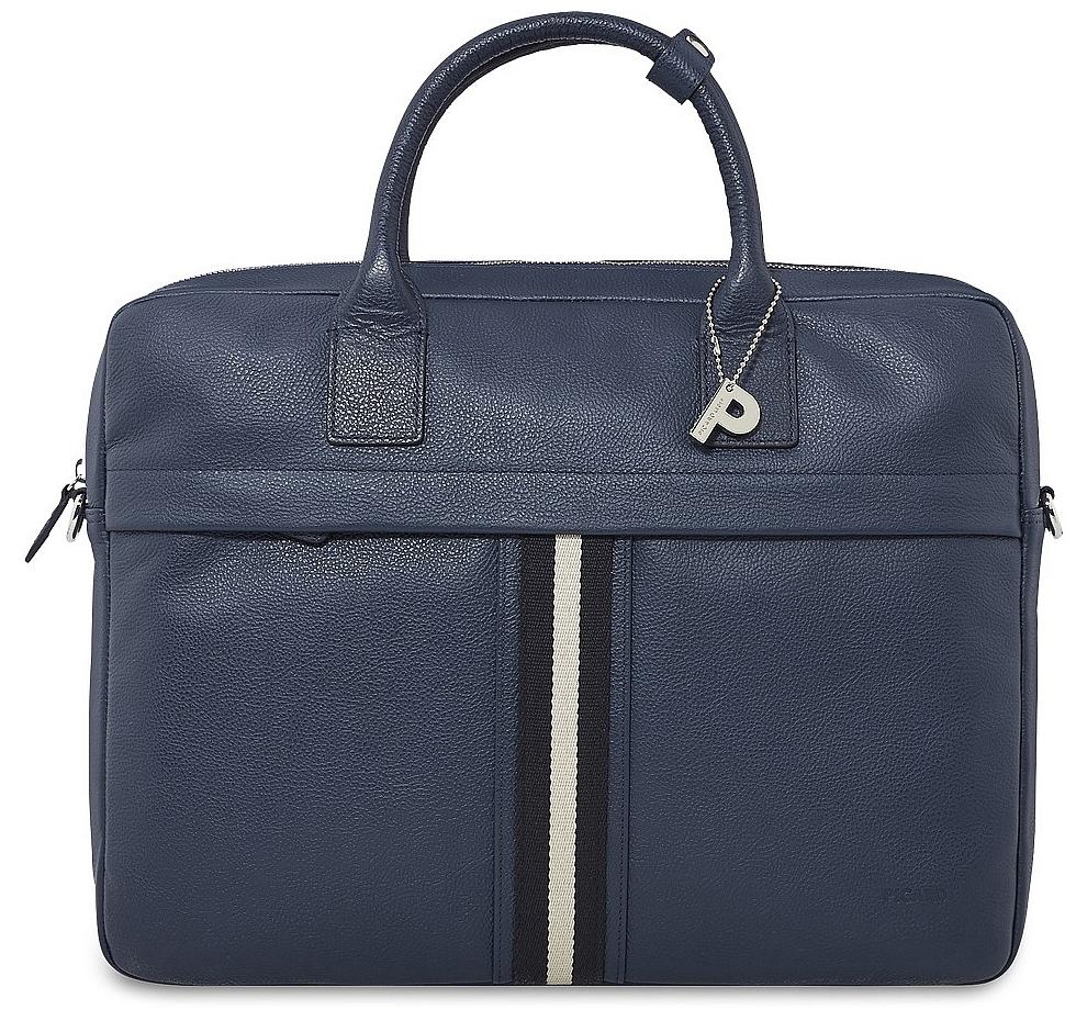 PICARD Kožená byznys taška na notebook TORRINO 9077 jeans