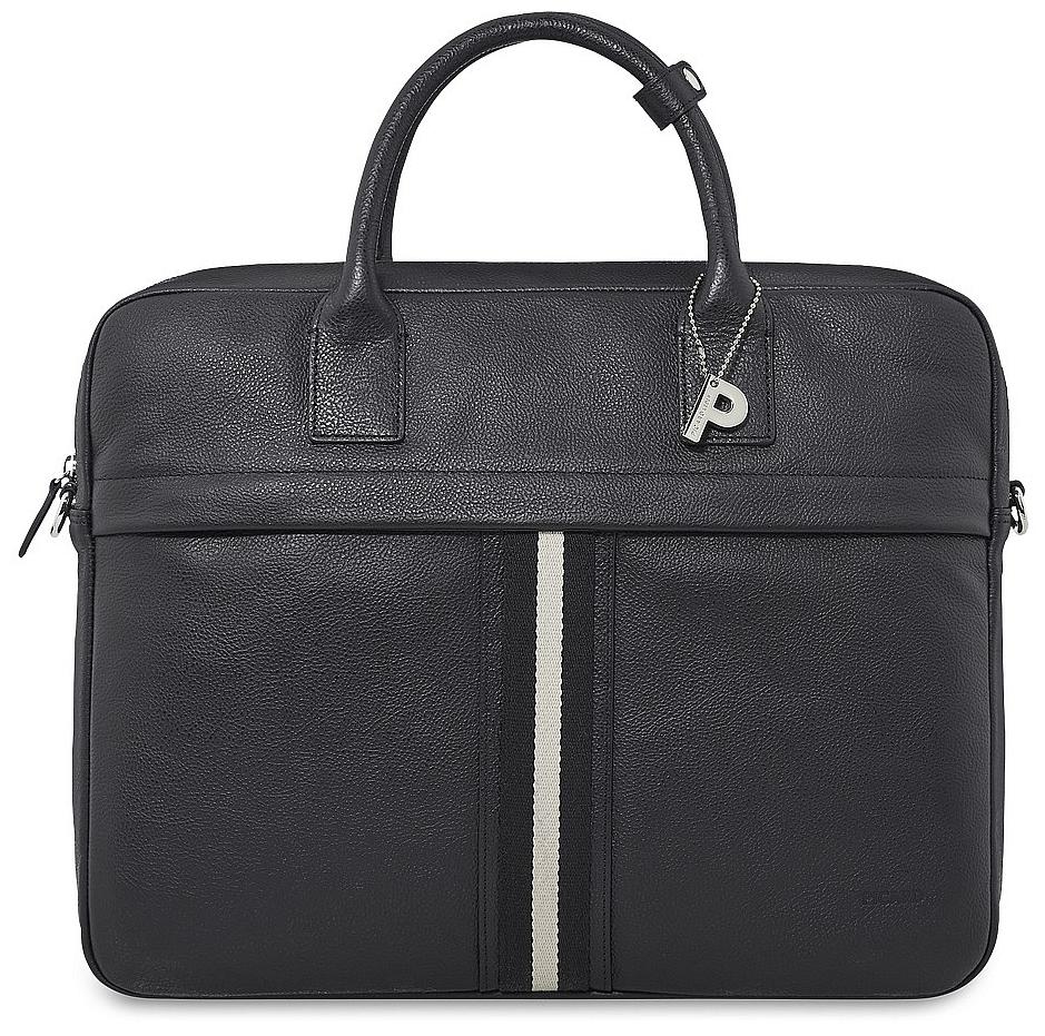 PICARD Kožená byznys taška na notebook TORRINO 9077 černá