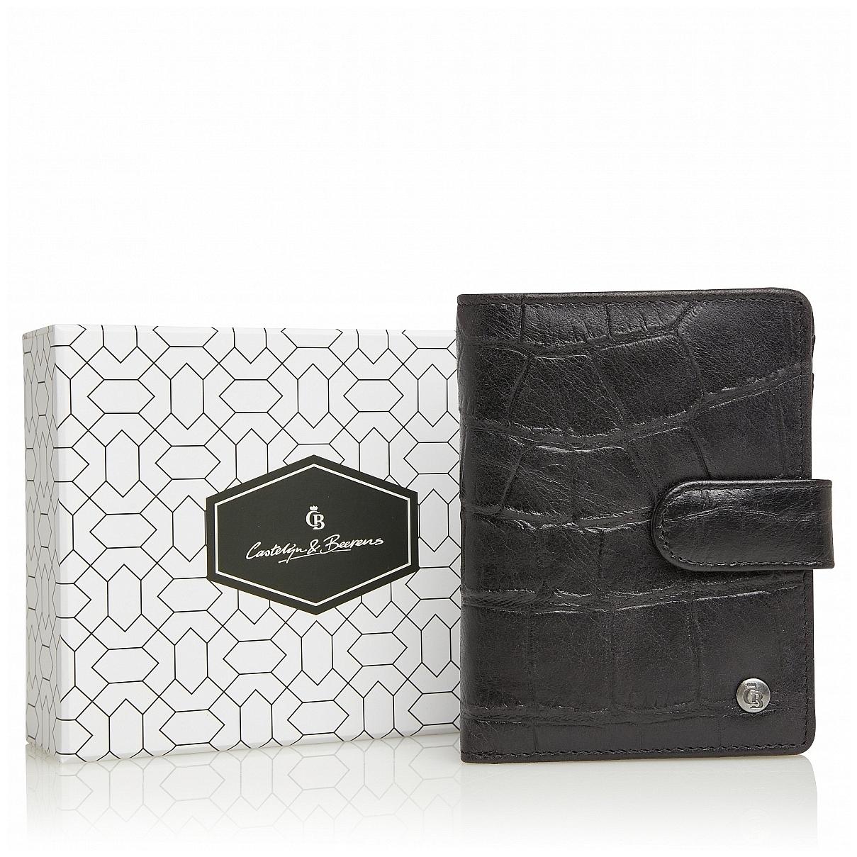 Castelijn & Beerens Dámská kožená peněženka RFID v dárkové krabičce 805415 černá