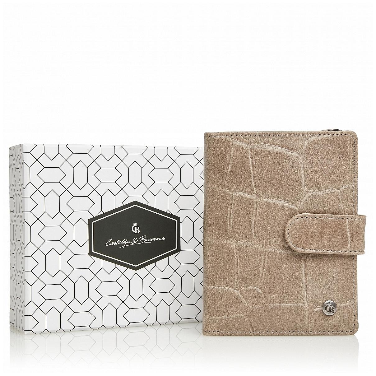 Castelijn & Beerens Dámská kožená peněženka RFID v dárkové krabičce 805415 taupe