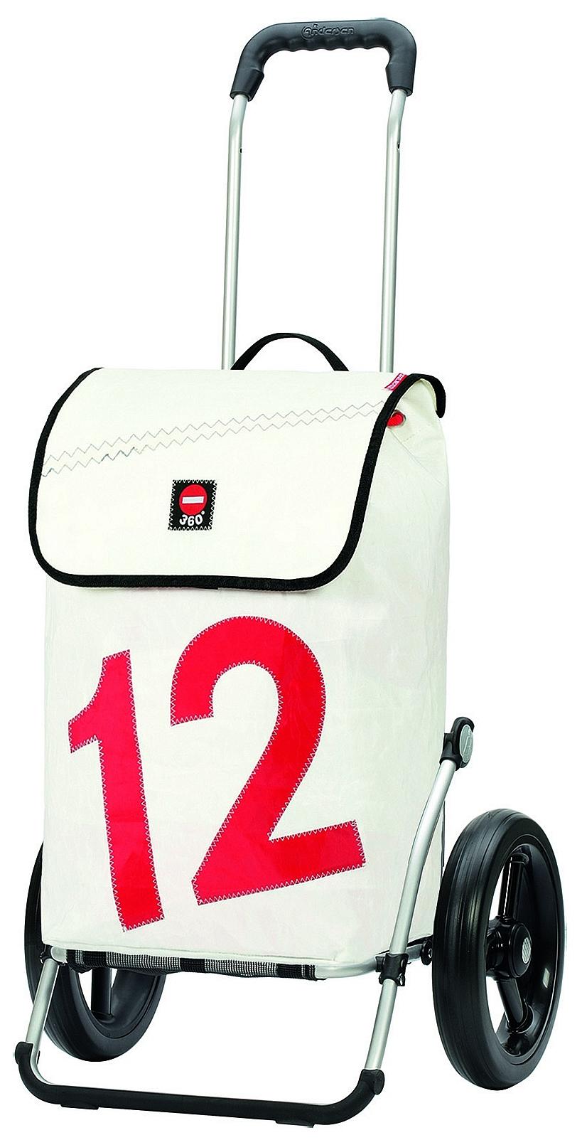 Andersen Stylová nákupní taška na velkých kolečkách ROYAL SHOPPER 360°LUV®164-090-12 bílá