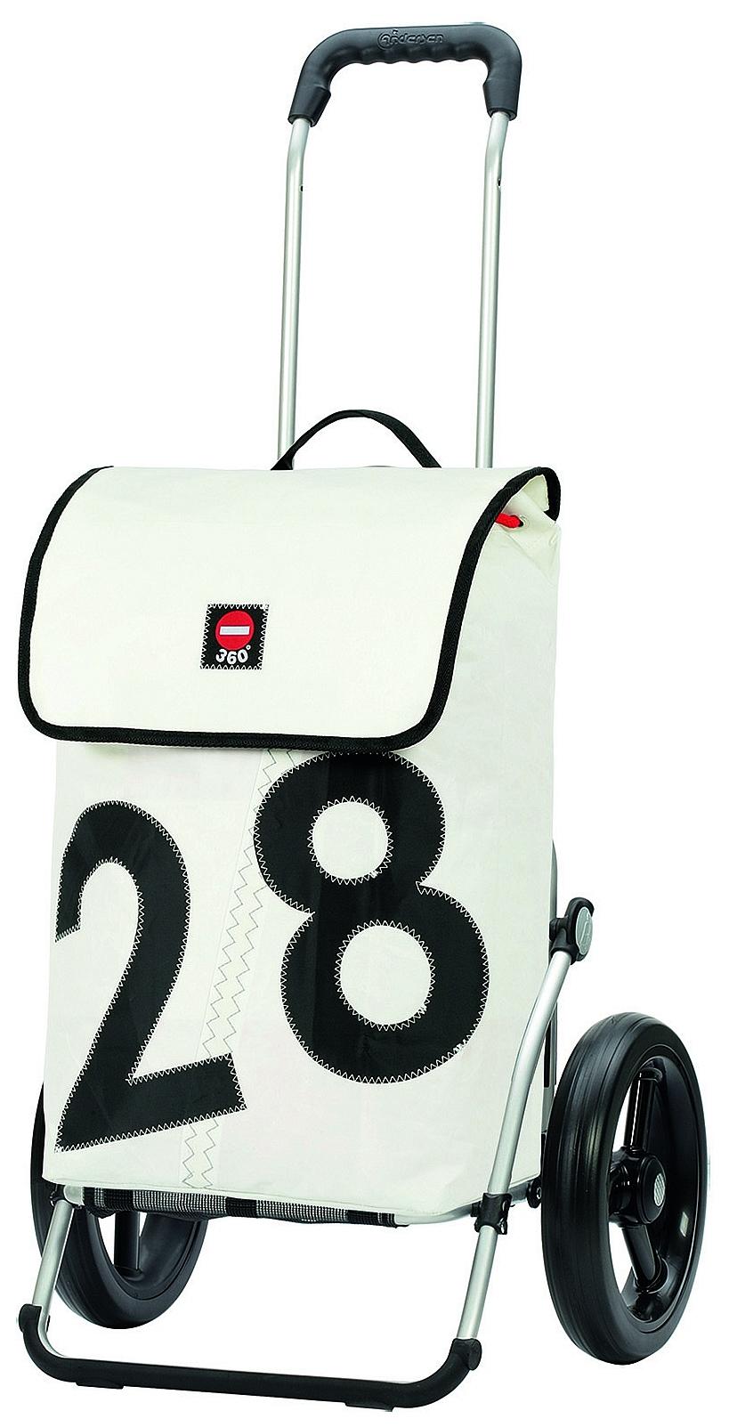 Andersen Stylová nákupní taška na velkých kolečkách ROYAL SHOPPER 360°LUV®164-090-28 bílá