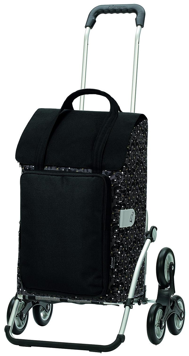 Andersen Nákupní taška schodolez na kolečkách ROYAL SHOPPER® MIMI 169-129-00 černo-zlatá