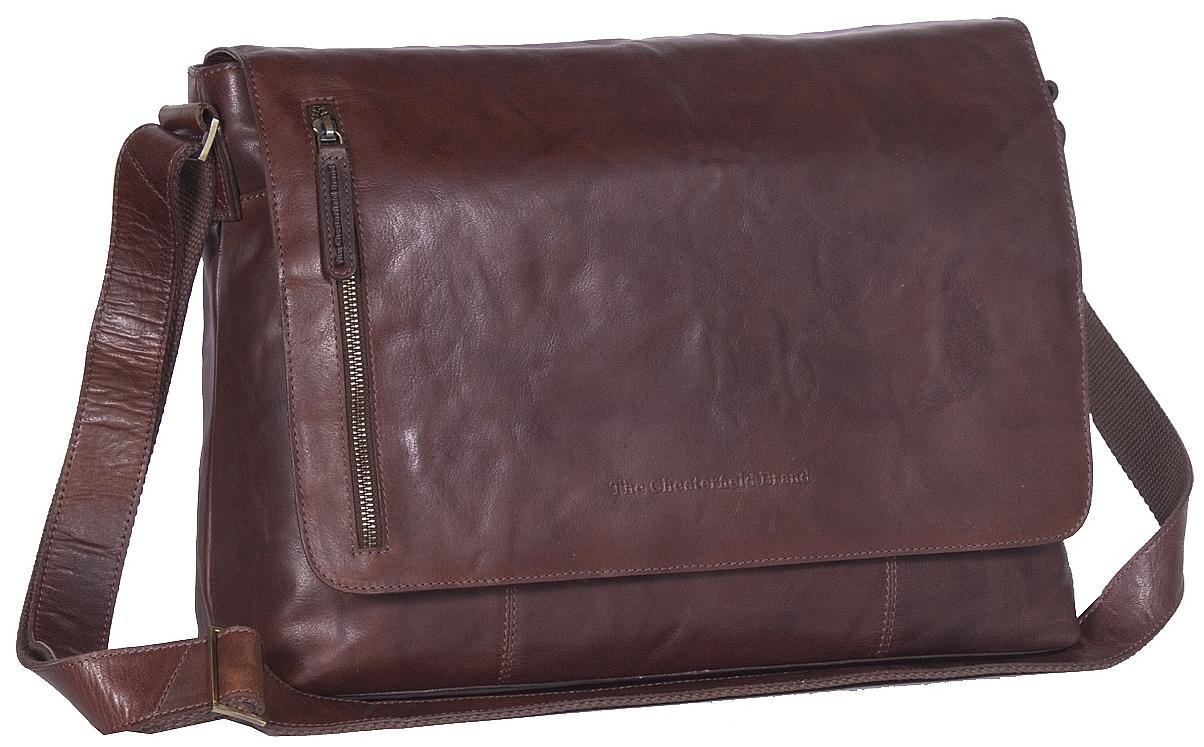 The Chesterfield Brand Klopnová kožená taška přes rameno Maha C48.085901  hnědá 9bcc0ea803f