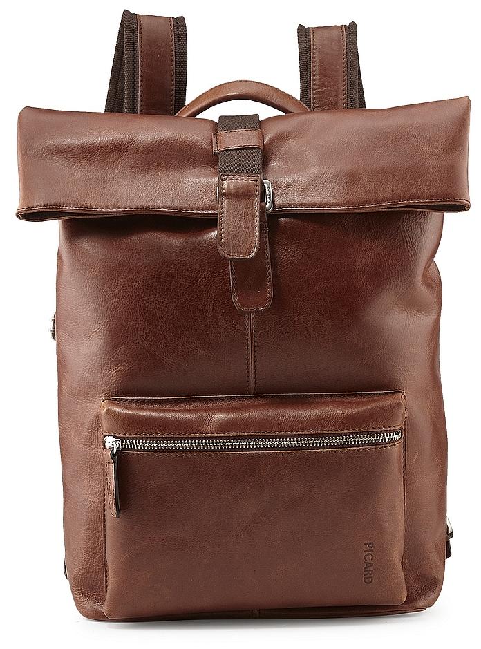PICARD Pánský batoh na notebook z buvolí kůže BUDDY 4758 koňak 8a6c45d043
