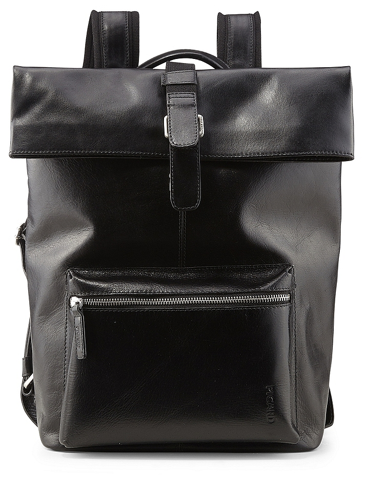 PICARD Pánský batoh na notebook z buvolí kůže BUDDY 4758 černý 9711021c59