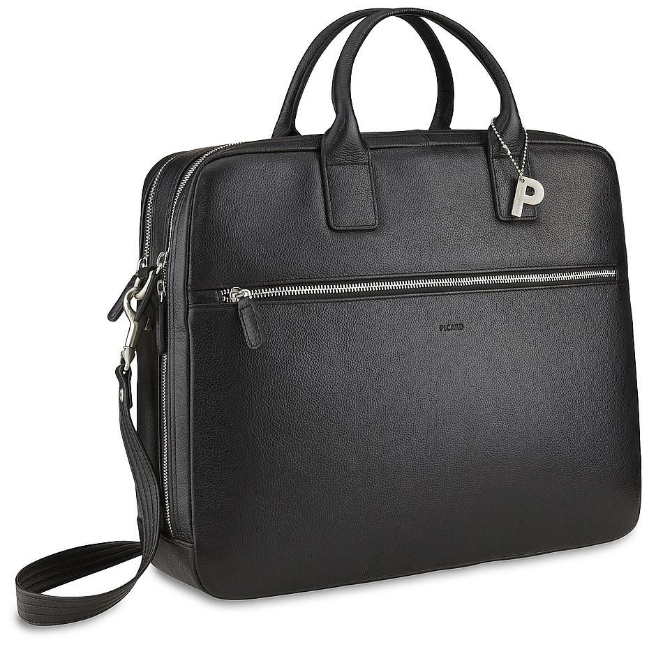 PICARD Pánská kožená taška na notebook MILANO 8083 černá