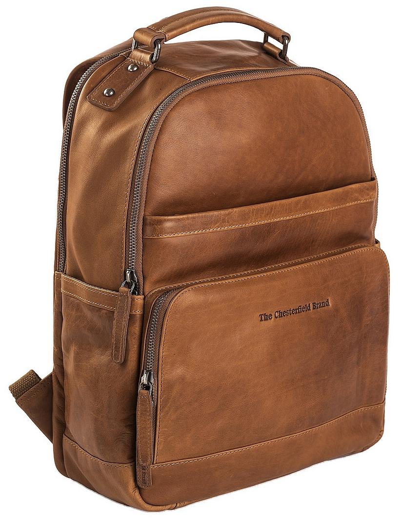 The Chesterfield Brand Pánský kožený batoh na notebook Austin C58.018431 koňak