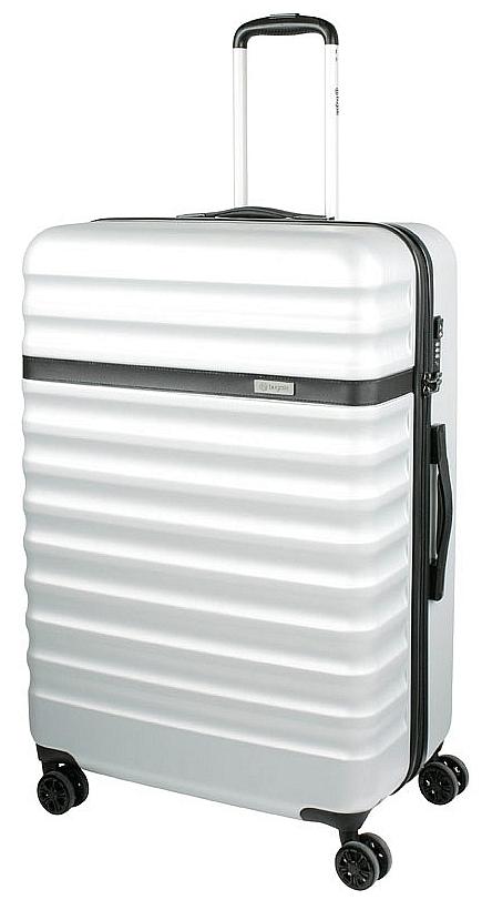 Bugatti Cestovní kufr Corium L 49710243 stříbrný