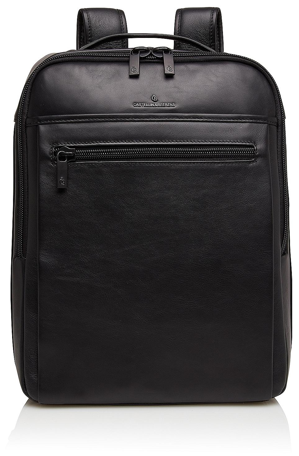5c4d0df122 Castelijn  amp  Beerens Elegantní kožený batoh na notebook Victor 409576 ZW  černý