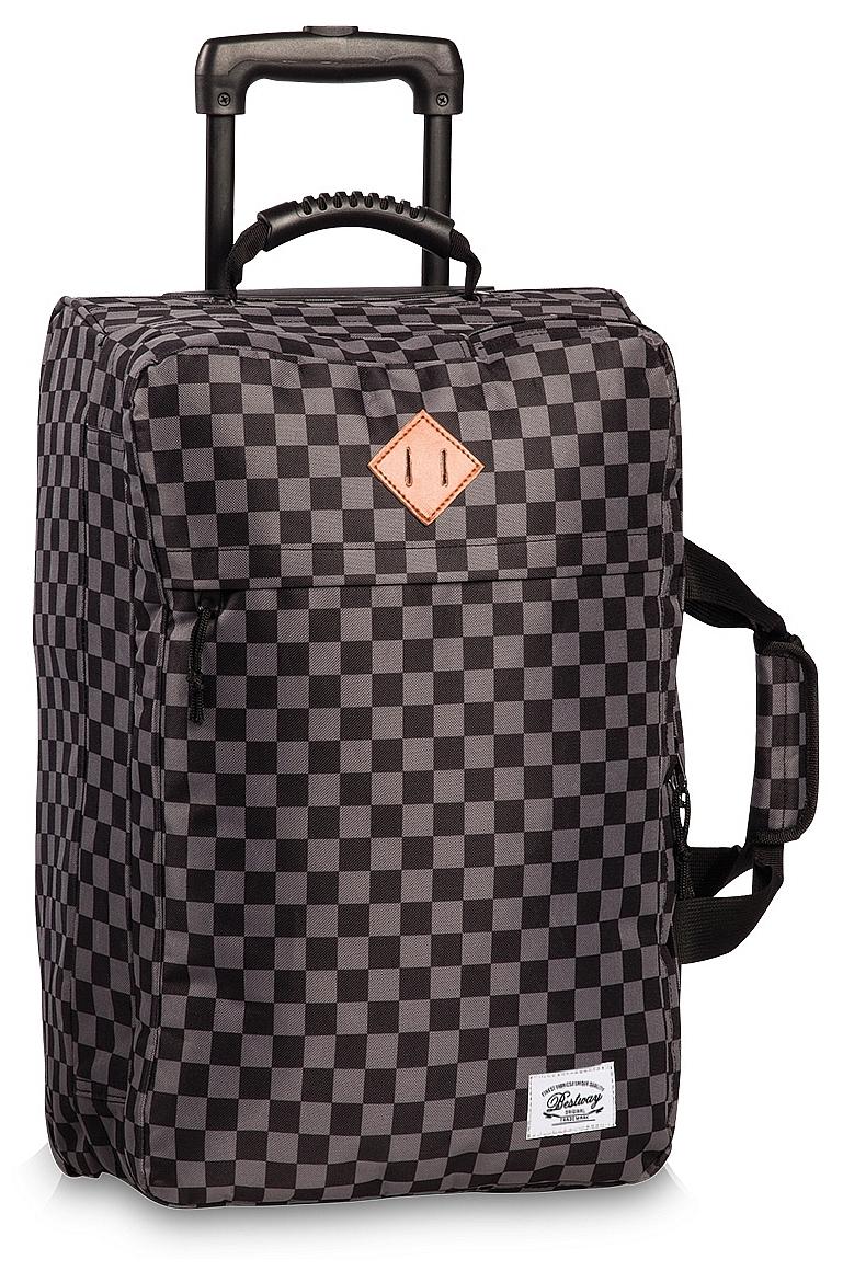 15c2e6656e BestWay Cestovní taška na kolečkách - palubní zavazadlo 40217-0117  černo-šedá