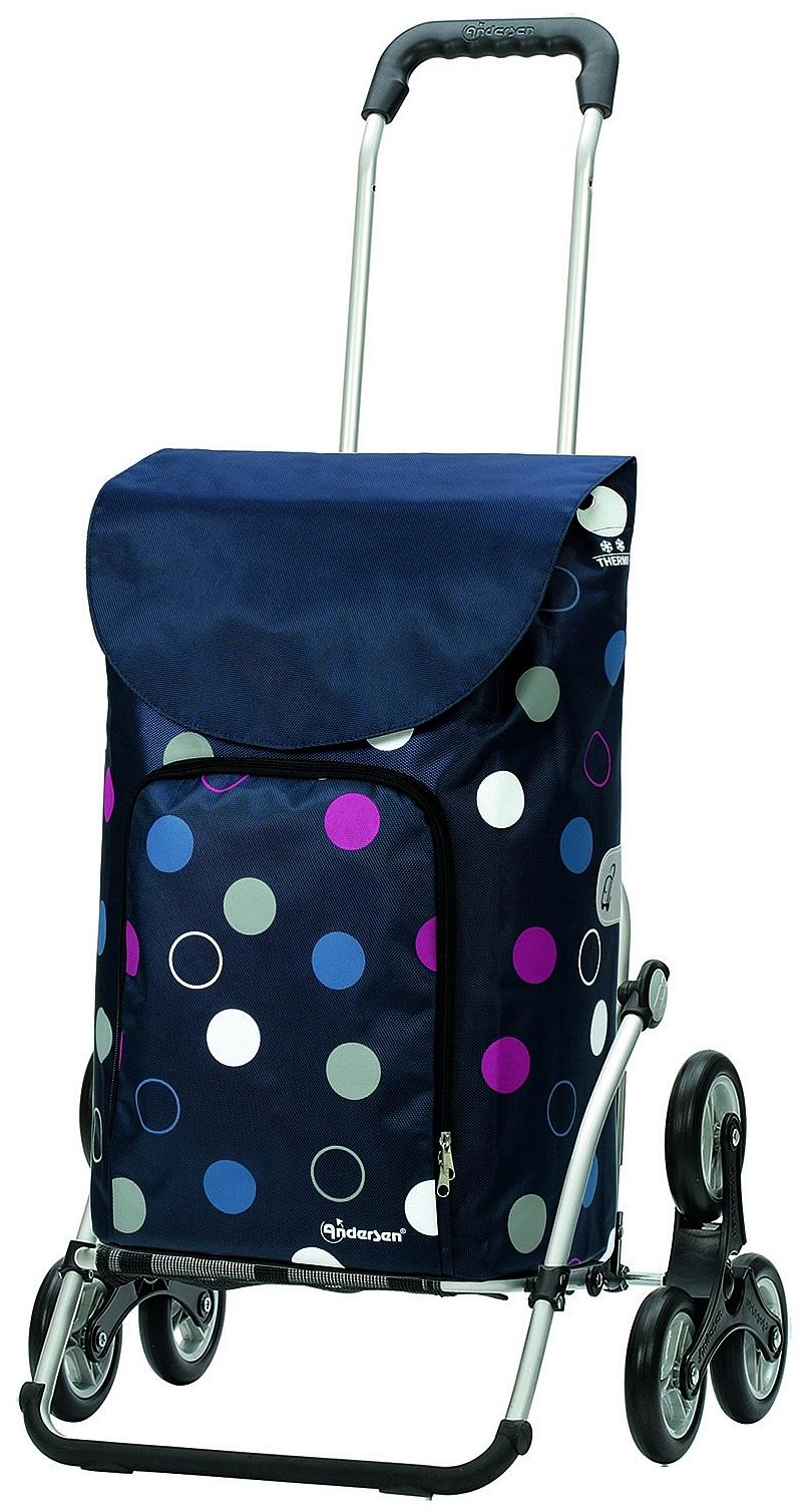 Andersen Nákupní taška schodolez s termopřihrádkou ROYAL SHOPPER® KIRA 169-136-90 modrá