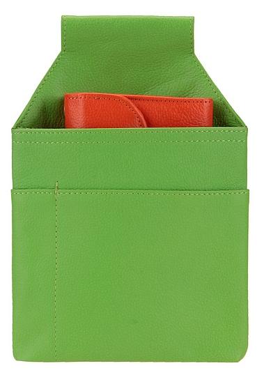 Hamosons Pouzdro na kasírku z hovězí kůže 009 zelená