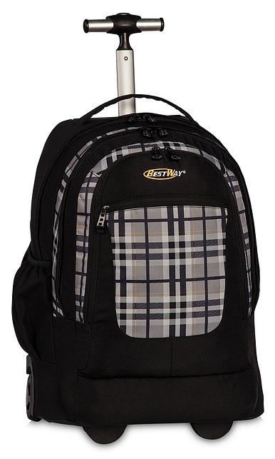 BestWay XL batoh na kolečkách s vysouvací rukojetí 40154-0117 černo-šedá