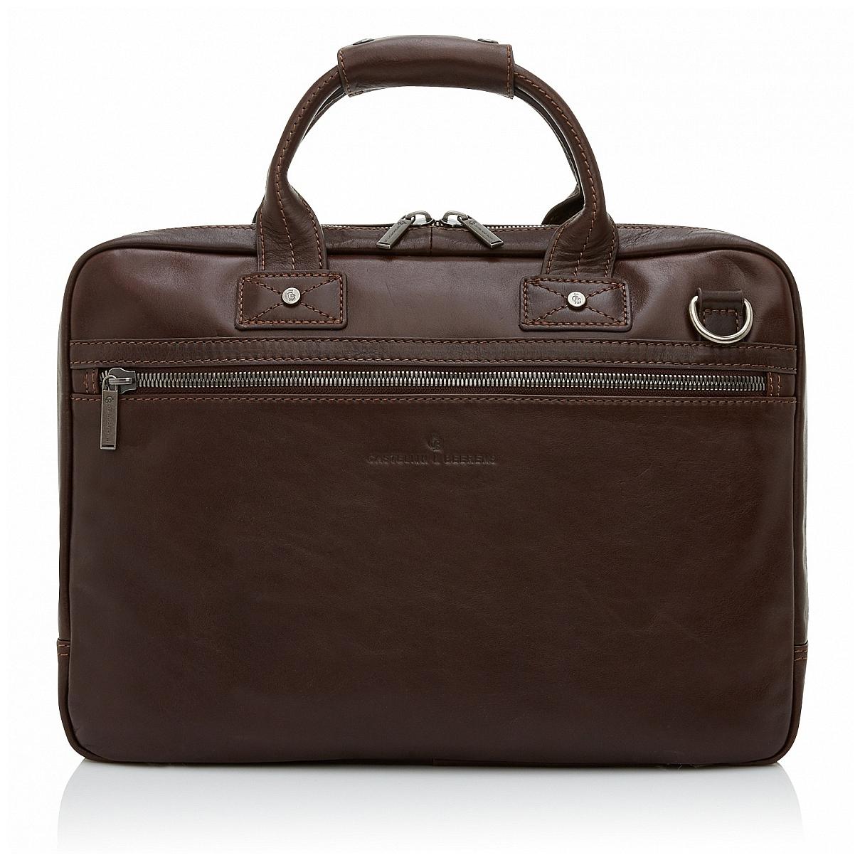 Castelijn & Beerens Pánská kožená taška na notebook 609472 hnědá