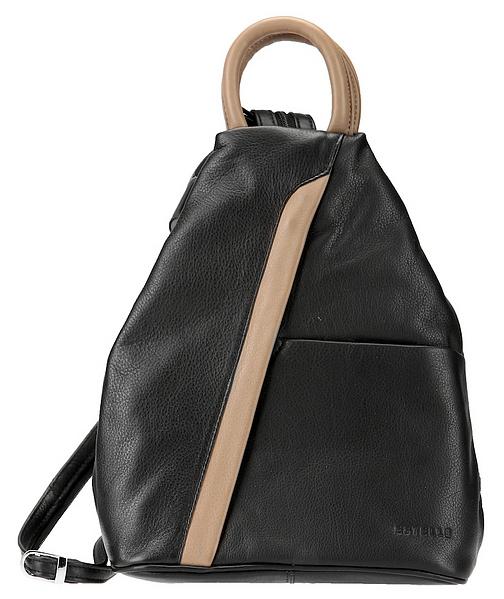 ESTELLE Kožený batůžek 0139 černo-béžová