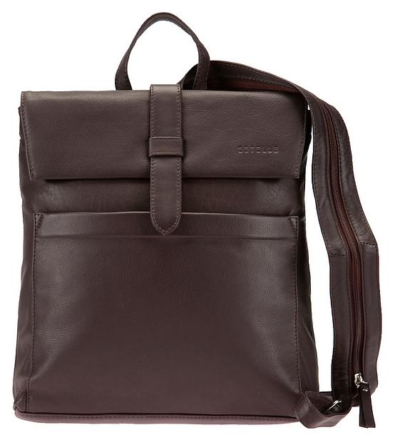38aa9cdb6c5 ESTELLE Dámský kožený batoh 0141 tmavě hnědý