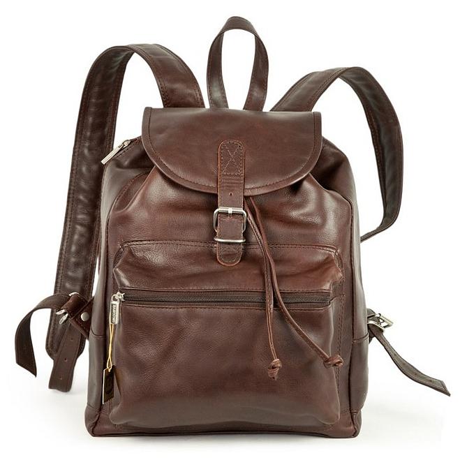 Hamosons Kožený batoh z hovězí kůže 512 hnědý