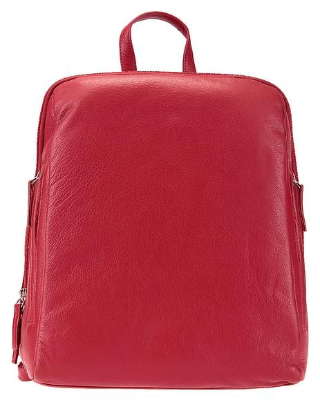 ESTELLE Dámský kožený batoh 0610 červený