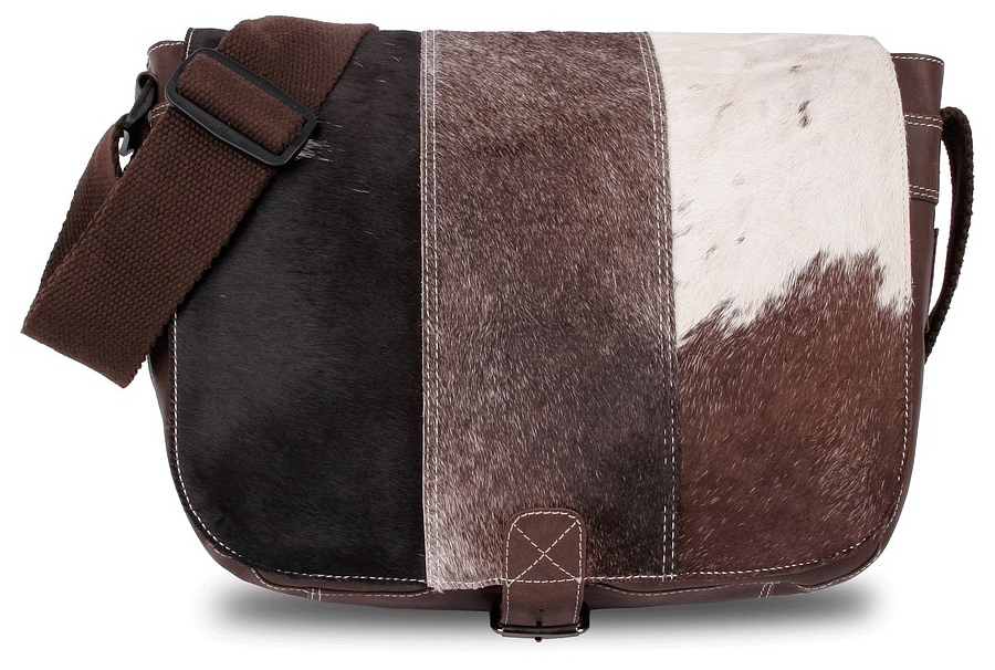 BULL&HUNT Kožená taška přes rameno TWENTY FIVE SHERPA -25-0201 hnědá