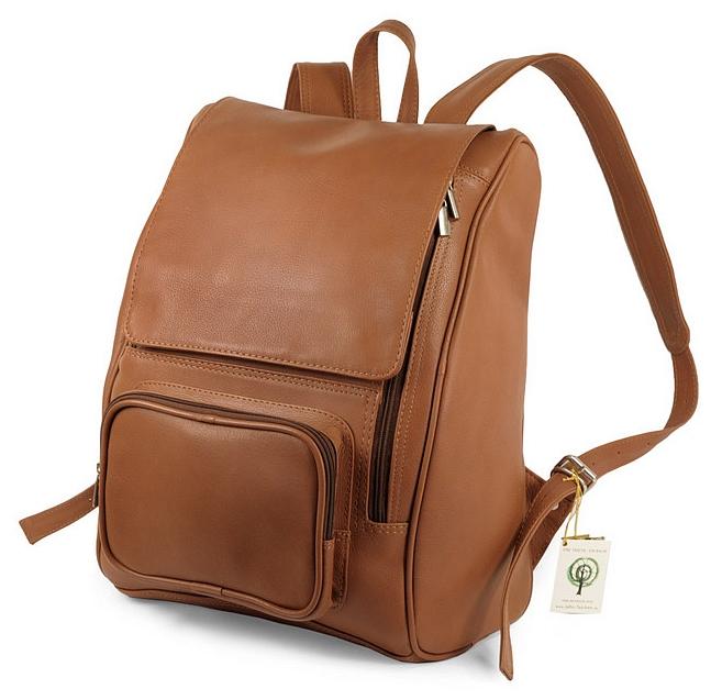 XL kožený batoh na notebook 711 koňak