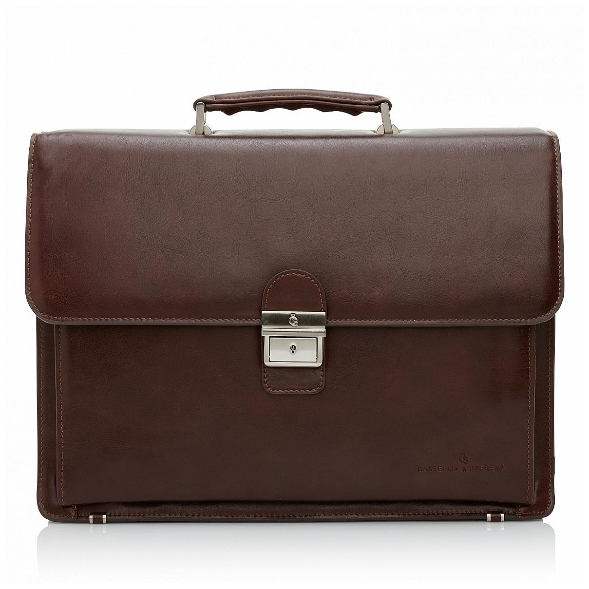 Castelijn & Beerens Pánská kožená aktovka na notebook 869598 hnědá