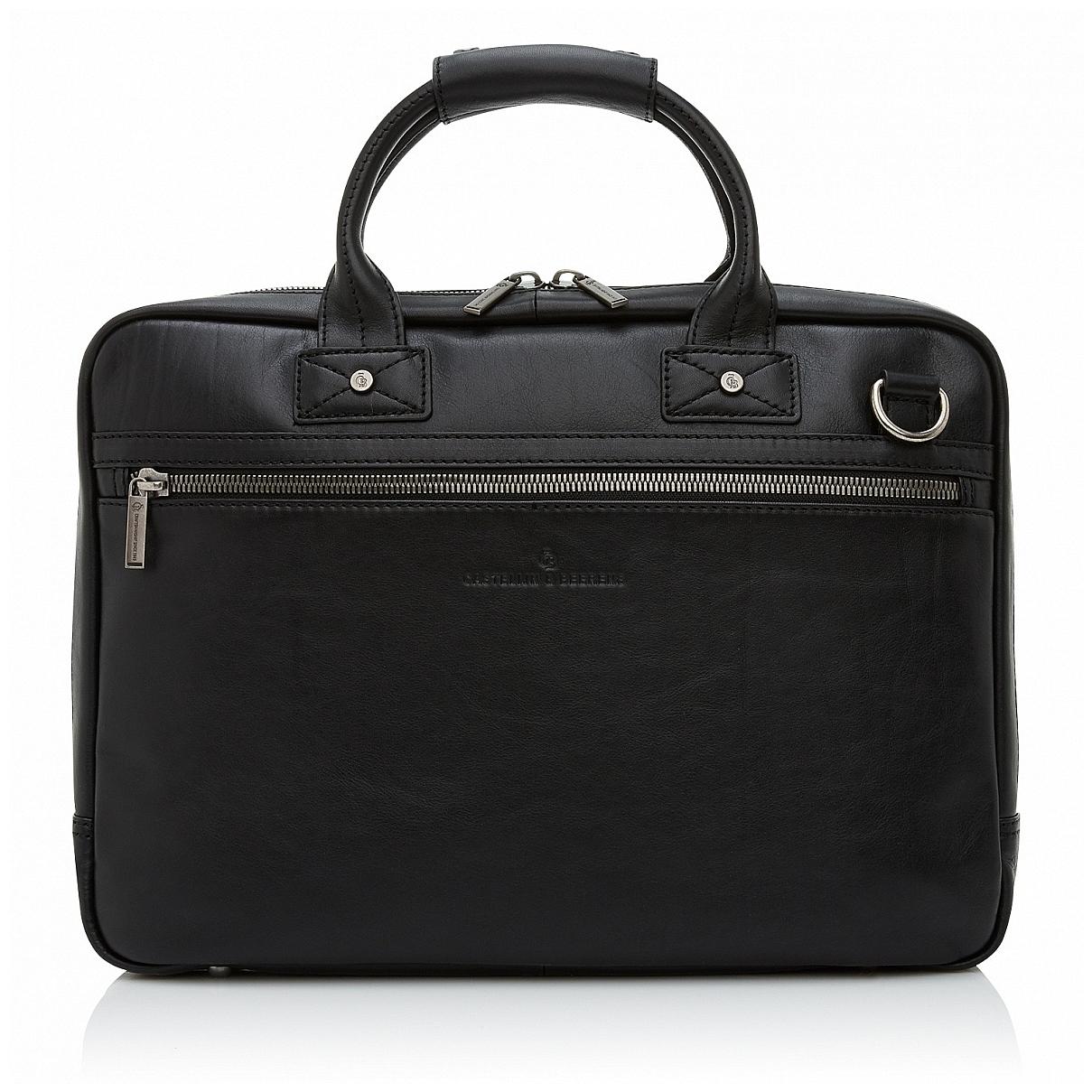 Castelijn & Beerens Pánská kožená taška na notebook 609472 černá