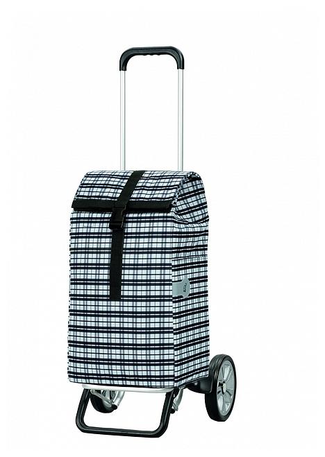 Andersen Nákupní taška na kolečkách ALU STAR SHOPPER® TOPAS 115-063-00 černo-bílá