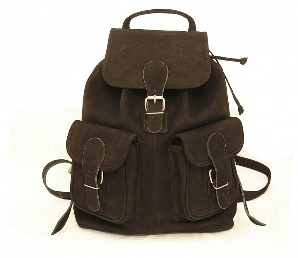 Hamosons Kožený batoh z buvolí kůže 559 černý - UNIVARO befbf75a43