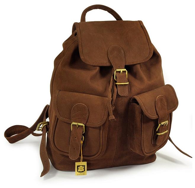 Hamosons Kožený batoh z buvolí kůže 559 hnědý