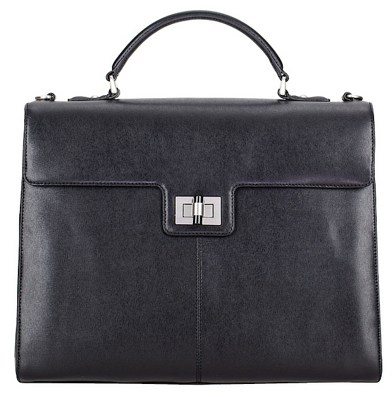 LEONHARD HEYDEN Kožená business kabelka NIMES 5362 černá